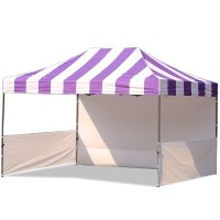 AbcCanopy Carnival 10x15 Purple With White Walls Pop Up Tent Trade Show Booth Canopy W/ Wheeled bag
