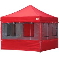 10X10 AbcCanopy Deluxe Red Food Vendor PackageTent with Roller Bag