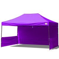 AbcCanopy 10x15 Deluxe Purple Pop Up Canopy Trade Show Both