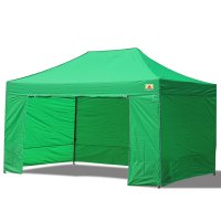 AbcCanopy 10x15 Deluxe Kelly Green Package Tent With Roller Bag