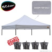AbcCanopy 10x10 Pop Up Canopy Replacement Top 100% waterproof - Come with 4 Weight Bag