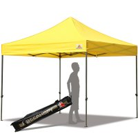 Abccanopy 10x10 Deluxe Yellow Pop Up Canopy With Roller Bag
