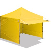 10x10 AbcCanopy Easy Pop up Canopy Tent Instant Shelter Deluxe Portable Market Canopy awning-Yellow