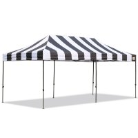 AbcCanopy Carnival 10X20 Black And White Pop Up Canopy Popcorn Cotton Candy Vending Tentt
