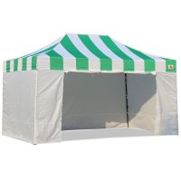 AbcCanopy Carnival Canopy 10x15 Green With White Walls Ez Part Tent Bouns 6 Wall