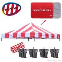 AbcCanopy 10X10 Pop Up Canopy Tent Replacement Canopy Top Cover for Caravan Canopy