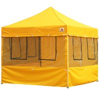 10X10 AbcCanopy Deluxe Yellow Food Vendor PackageTent with Roller Bag