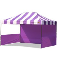 AbcCanopy Carnival 10x15 Purple With Purple Walls Pop Up Tent Trade Show Booth Canopy W/ Wheeled bag