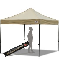 Abccanopy 10x10 Deluxe Beige Pop Up Canopy With Roller Bag