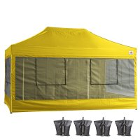 10X15 AbcCanopy Deluxe Yellow Food Vendor PackageTent with Roller Bag