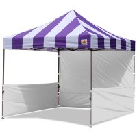 AbcCanopy Carnival 10x10 Purple With White Walls Pop Up Tent Trade Show Booth Canopy W/ Wheeled bag