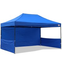 AbcCanopy 10x15 Deluxe Royal Blue Pop Up Canopy Trade Show Both