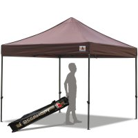 Abccanopy 10x10 Deluxe Brown Pop Up Canopy With Roller Bag