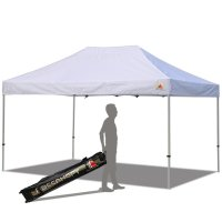 Abccanopy 10x15 PRO-40 White Pop Up Canopy With Roller Bag