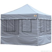 10X10 AbcCanopy Deluxe Gray Food Vendor PackageTent with Roller Bag