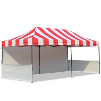 AbcCanopy Carnival 10x20 Red With White Walls Pop Up Tent Trade Show Booth Canopy W/ Wheeled bag