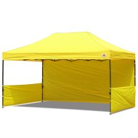 AbcCanopy 10x15 Deluxe Yellow Pop Up Canopy Trade Show Both