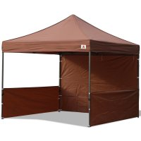 AbcCanopy 10x10 Deluxe Brown Pop Up Canopy Trade Show Both
