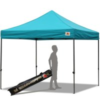 Abccanopy 10x10 Deluxe Turquoise Pop Up Canopy With Roller Bag