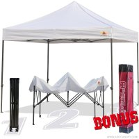 AbcCanopy 10x10 King Kong White Canopy Instant Shelter Outdor Party Tent Gazebo with carry bag