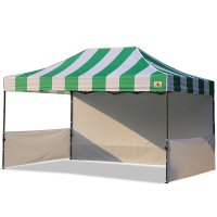 AbcCanopy Carnival 10x15 Green With White Walls Pop Up Tent Trade Show Booth Canopy W/ Wheeled bag