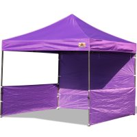 AbcCanopy 10x10 Deluxe Purple Pop Up Canopy Trade Show Both