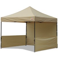 AbcCanopy 10x10 Deluxe Beige Pop Up Canopy Trade Show Both