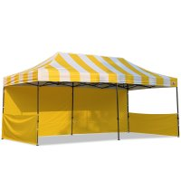 AbcCanopy Carnival 10x20 Yellow With Yellow Walls Pop Up Tent Trade Show Booth Canopy W/ Wheeled bag