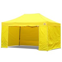 AbcCanopy 10x15 Deluxe Yellow Package Tent With Roller Bag