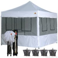 10X10 AbcCanopy Deluxe Food Vendor PackageTent with Roller Bag