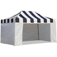AbcCanopy Carnival Canopy 10x15 Black With White Walls Ez Part Tent Bouns 6 Wall