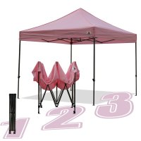 AbcCanopy 10x10 King Kong Pink Canopy Instant Shelter Outdor Party Tent Gazebo