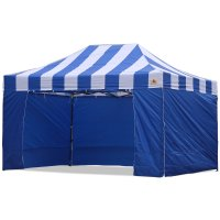 AbcCanopy Carnival Canopy 10x15 Blue With Blue Walls Ez Part Tent Bouns 6 Wall