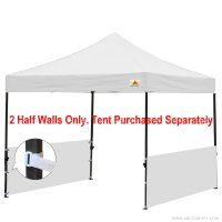 Two Half Walls For 10'x10' Pop Up Paty Tent Canopy(2 Half Walls Only. Tent Purchased Separately)