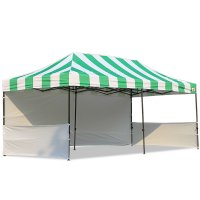 AbcCanopy Carnival 10x20 Green With White Walls Pop Up Tent Trade Show Booth Canopy W/ Wheeled bag