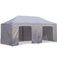 AbcCanopy 10x20 Deluxe Gray Package Tent With Roller Bag