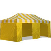 AbcCanopy Carnival Canopy 10x20 Yellow With Yellow Walls Ez Part Tent Bouns 9 Wall