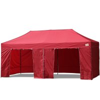 AbcCanopy 10x20 Deluxe Burgundy Package Tent With Roller Bag