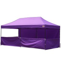 AbcCanopy 10x20 Deluxe Purple Pop Up Canopy Trade Show Both