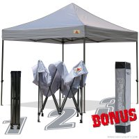 AbcCanopy 10x10 King Kong Gray Canopy Instant Shelter Outdor Party Tent Gazebo with carry bag