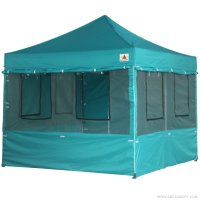 10X10 AbcCanopy Deluxe Turquoise Food Vendor PackageTent with Roller Bag