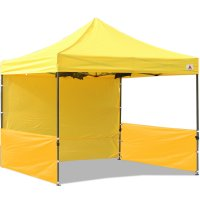 AbcCanopy 10x10 Deluxe Yellow Pop Up Canopy Trade Show Both