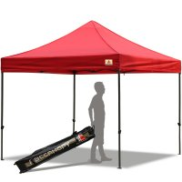 Abccanopy 10x10 Deluxe Red Pop Up Canopy With Roller Bag