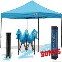 AbcCanopy 10x10 King Kong Sky Blue Canopy Instant Shelter Outdor Party Tent Gazebo with carry bag