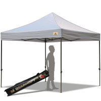 Abccanopy 10x10 Deluxe Gray Pop Up Canopy With Roller Bag