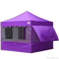 10X10 AbcCanopy Deluxe Purple Food Vendor PackageTent with Roller Bag