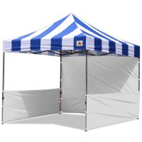 AbcCanopy Carnival 10x10 Blue With White Walls Pop Up Tent Trade Show Booth Canopy W/ Wheeled bag