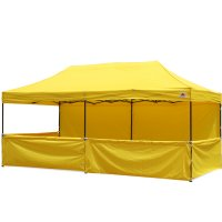AbcCanopy 10x20 Deluxe Yellow Pop Up Canopy Trade Show Both