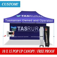 Custom Printed 10x15 Marquee Canopy Pop Up Canopy w/ your logo