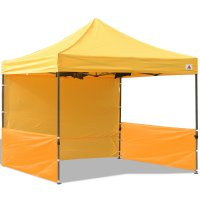 AbcCanopy 10x10 Deluxe Gold Pop Up Canopy Trade Show Both